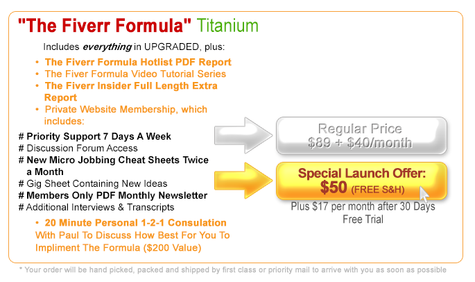 Click Here To Secure The Titanium Edition Of The Fiverr Formula